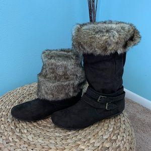 Report Faux Fur Trim Boots Size 8.5